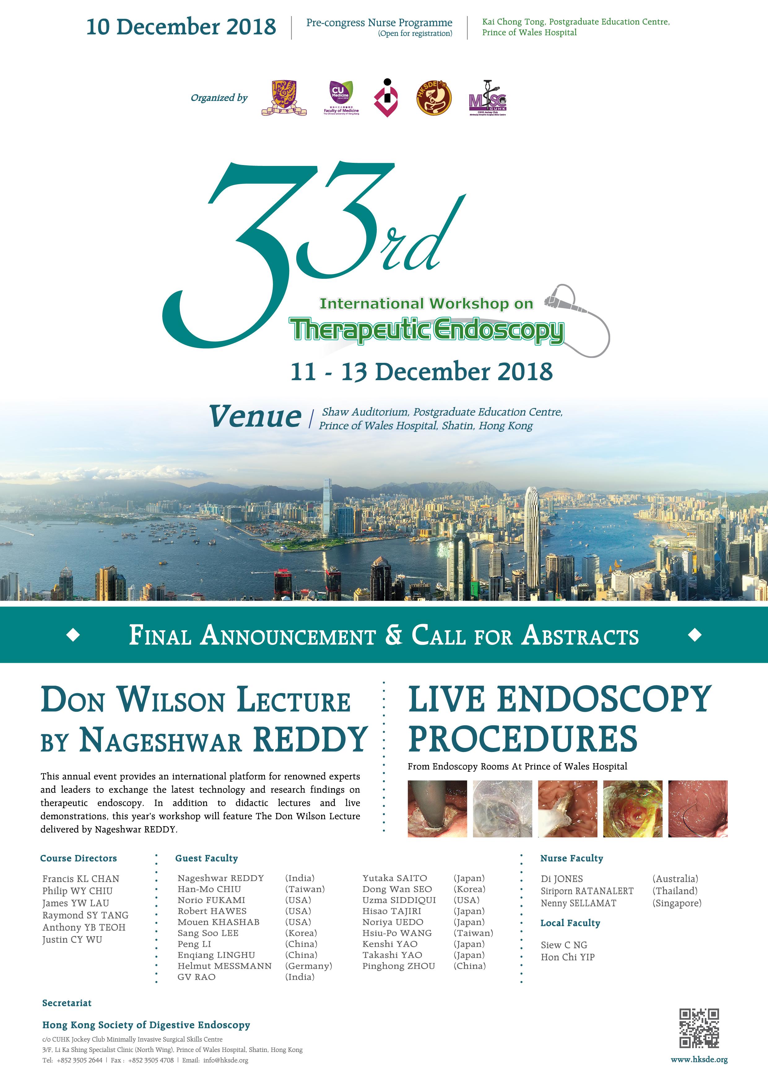 Endoscope Design: 33rd International Workshop On Therapeutic Endoscopy